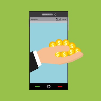 Smartphone device and gold coins