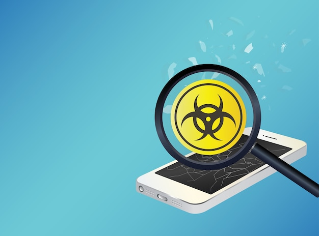 Smartphone device infected virus