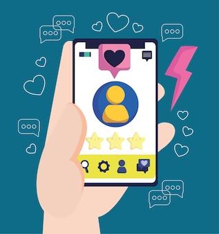 スマートフォンはソーシャルメディアのようにフォローします