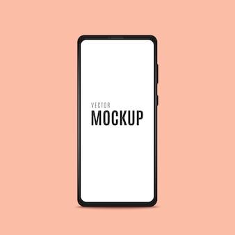 Рамка смартфона черная с пустым экраном.