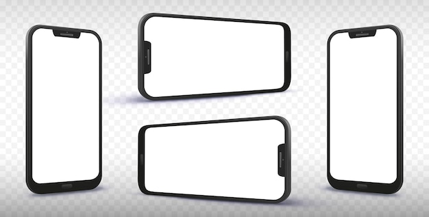 Smartphone from different angles and perspectives