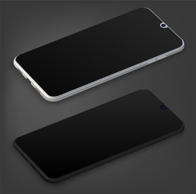Smartphone front and behind