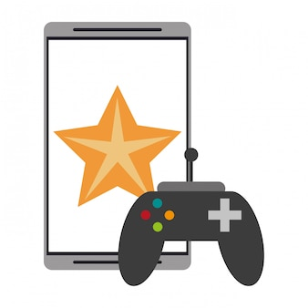 Smartphone game app with gamepad