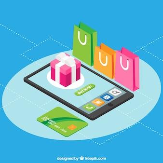 Смартфон, подарочная коробка, сумочки и кредитная карта