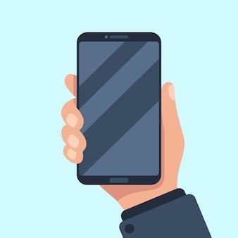 Smartphone in hand.