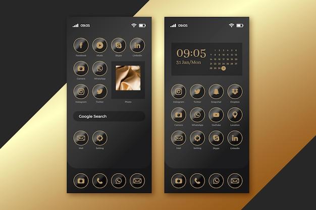 Schermata iniziale dello smartphone