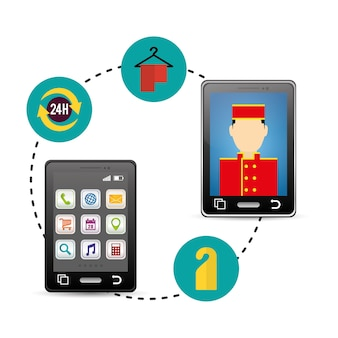 Smartphone and hotel digital apps design
