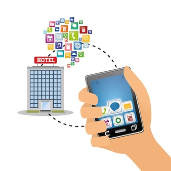 Smartphone and hotel digital apps design | field sales app