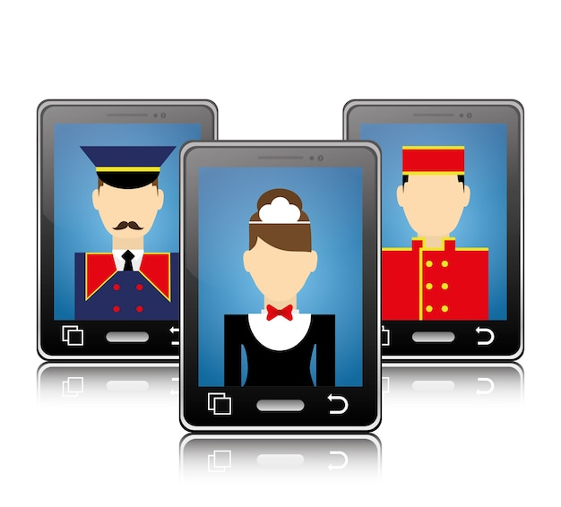 Smartphone and human resources of hotel design