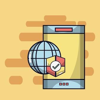 スマートフォンインターネットブラウザのウイルス対策保護