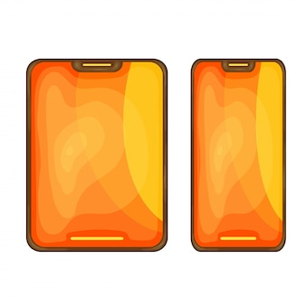 The smartphone is in a nice cartoon style. vector illustration isolated
