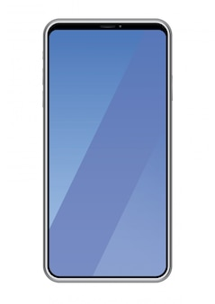Smartphone isolated on white background, vector illustration.