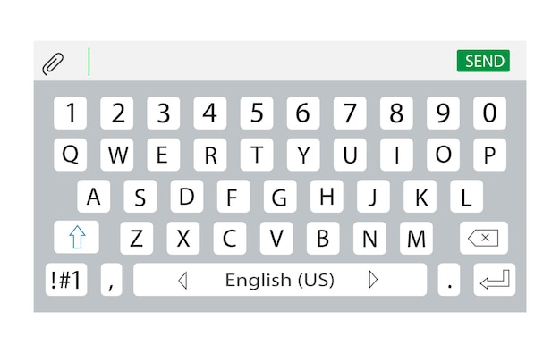 Smartphone keyboard keypad alphabet and numbers