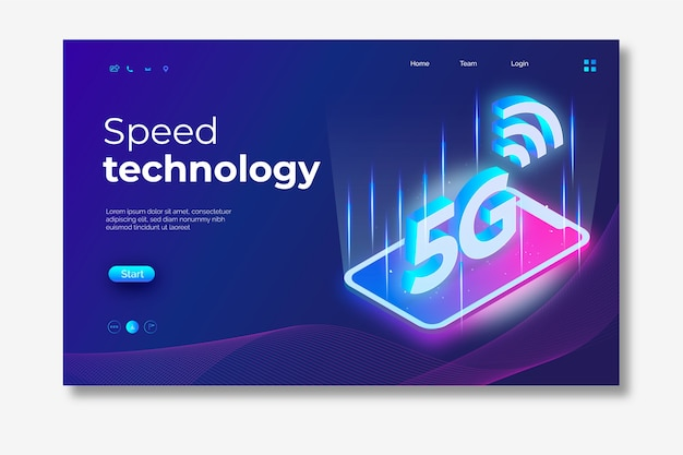 Smartphone landing page neon