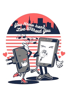 Smartphone in love