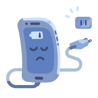 Smartphone low battery and unplugged