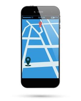Расположение карты смартфона