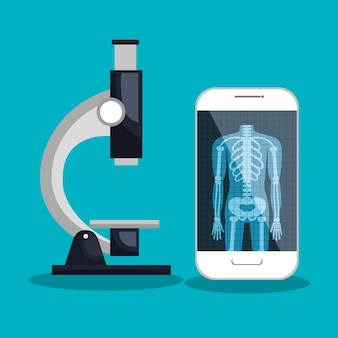 Smartphone and microscope medical service