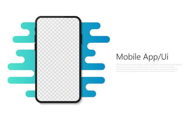 Smartphone mobile app illustration