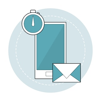 Smartphone mobile application email and clock