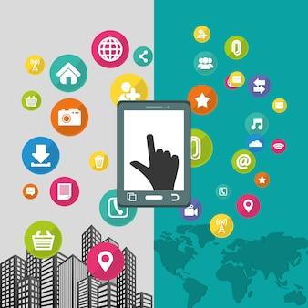 Smartphone mobile apps design