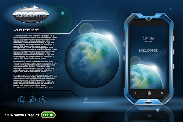 Smartphone mobile phone ads template mock up