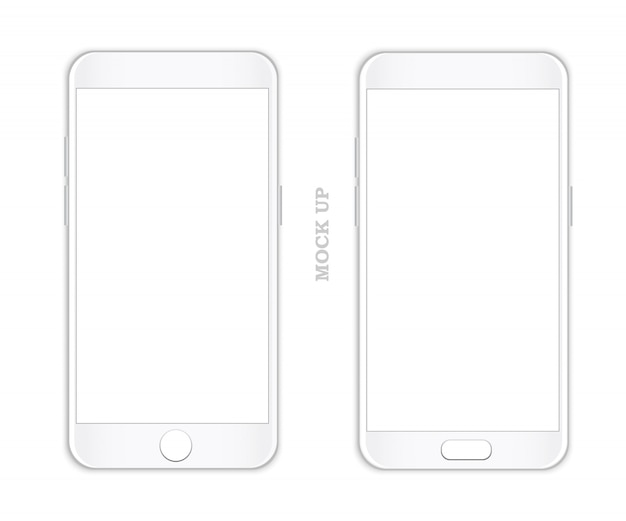 Smartphone mock up vector.