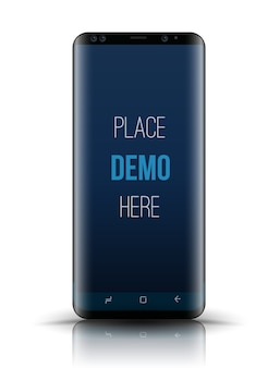 Smartphone mockup easy place image
