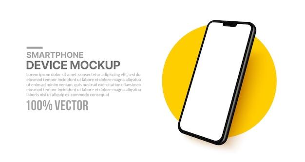 アプリ開発とデザインのためのスマートフォンのモックアッププレゼンテーションテンプレート用の分離された携帯電話