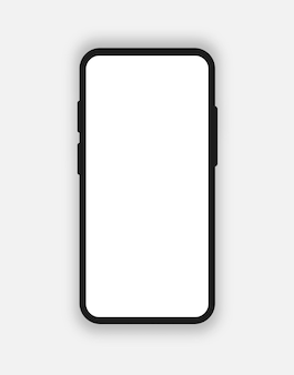 Smartphone mockup isolated on background for website ui elements app development smartphone template