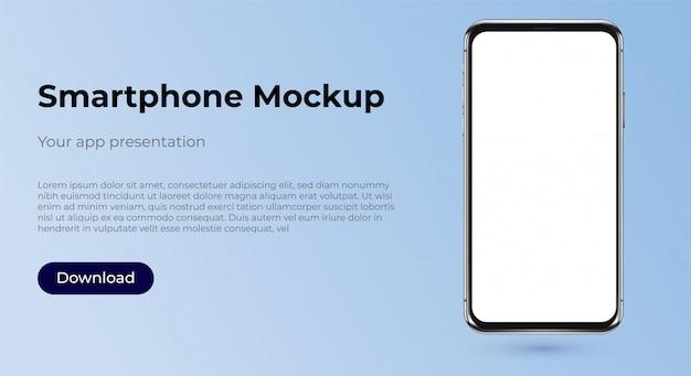 Шаблон макета смартфона для презентации приложения