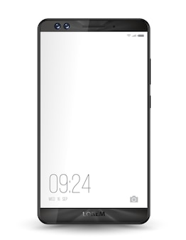 Smartphone mockup transparent screen.