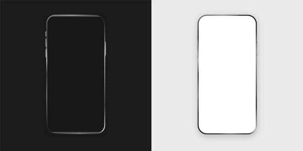 Smartphone modern with black white