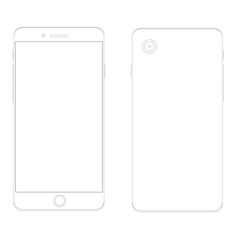 Smartphone outline template