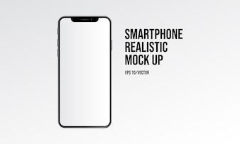 スマートフォンのリアルなモックアップ