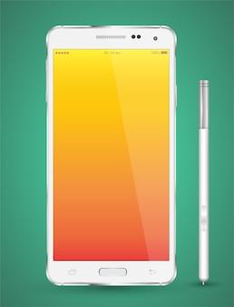 Smartphone realistic vector mockup