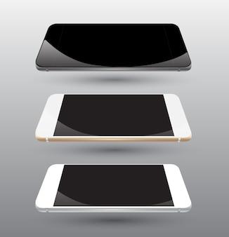 Smartphone realistic vector mockup.