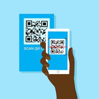 Смартфон сканирования qr-код