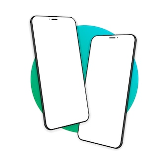 스마트 폰 화면, 전화. 장치 모델. 인포 그래픽 또는 프리젠 테이션 ui 디자인 인터페이스를위한 최신 템플릿. 삽화