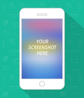 Smartphone screen vector flat cartoon