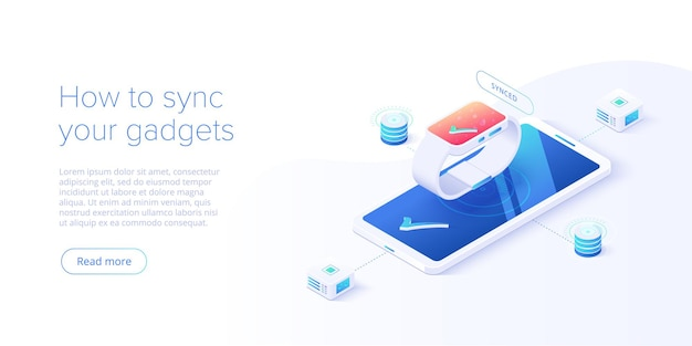 Smartphone and smart watch synchronization concept