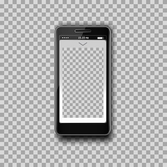 Smartphone template design app, transparent background