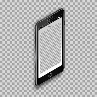 Smartphone template design on transparent background