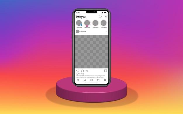 Шаблон смартфона для приложения социальных сетей