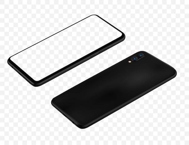 Smartphone transparent screen vector illustration