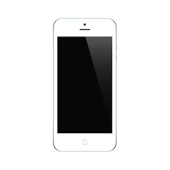 흰색 절연 블랙 터치 스크린 세이버와 스마트 폰 화이트 색상