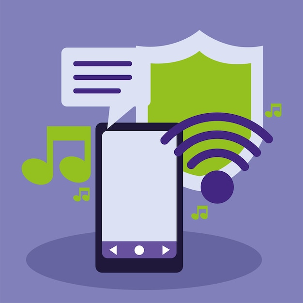 Smartphone wifi music