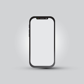 Smartphone with blank screen for app presentation
