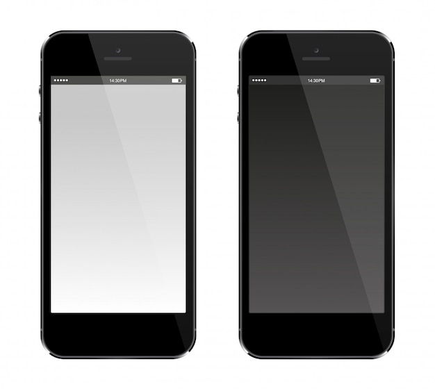 Smartphone with blank screen  realistic mobile phone