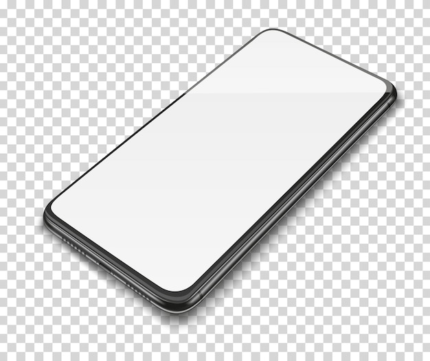 Smartphone with blank screen.